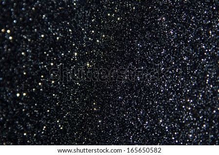 black glitter background - stock photo