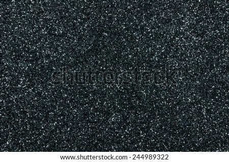 black glitter texture christmas background - stock photo