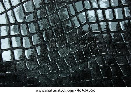 black glossy background - stock photo