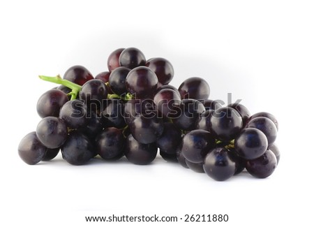 Black grapes cluster - stock photo