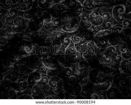 Black Grunge seamless wallpaper - stock photo