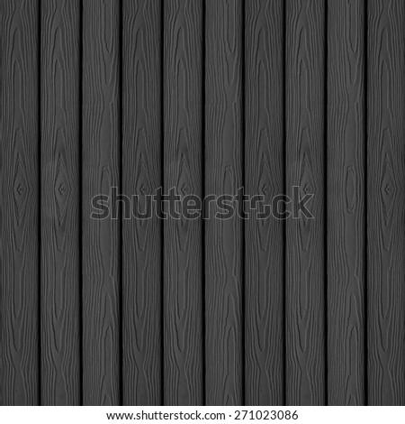 black grunge wooden planks background - stock photo