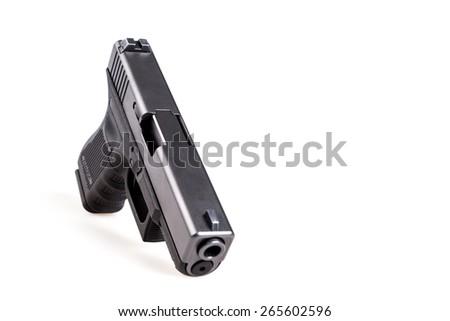 black gun - stock photo