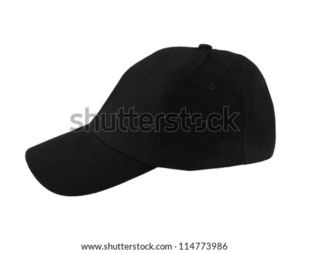 black hat isolated on a white background - stock photo
