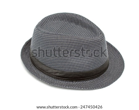 black hat on white background  - stock photo