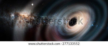 "Black hole. ""Elements of this image furnished by NASA"" - stock photo"