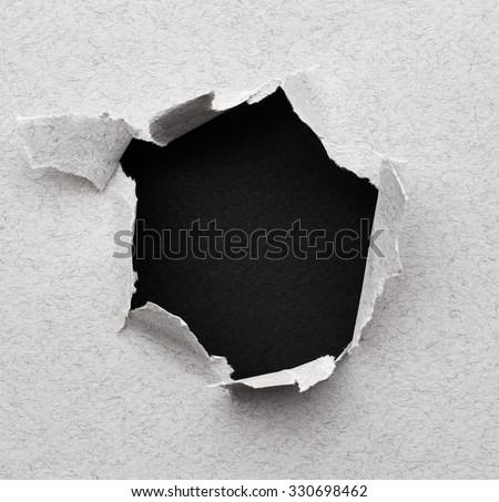 Black hole in paper. Abstract background - stock photo