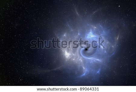 Black hole in space. - stock photo