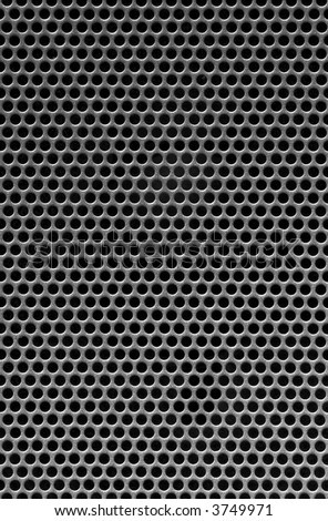 black holes in a metal grill - stock photo