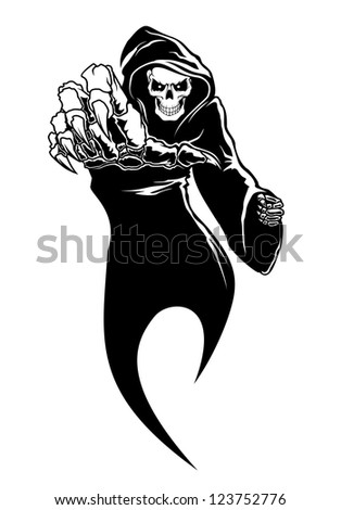 Black horror - danger death with bones for fear concept. Vector version also available in gallery - stock photo
