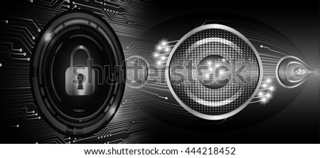 black illustration of technology internet network computer background with binary number, style. infographics. Information. motion blur. pixel. Binary digit. number.  Odometer,clock, watch. key - stock photo