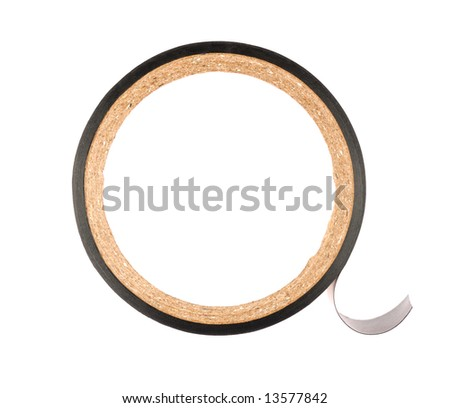 Black insulating tape isolated on white background
