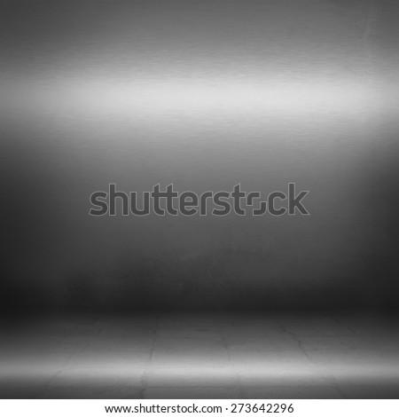 black interior background steel metal wall texture - stock photo