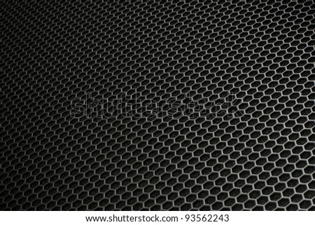 Black iron hexagonal texture. Industrial background 02.