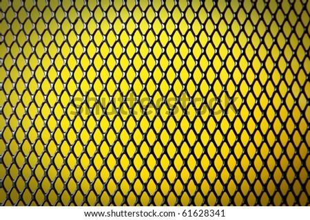 Black iron wire pattern background - stock photo