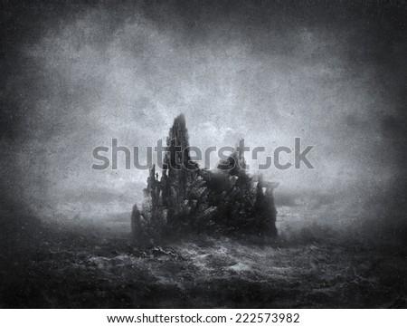 Black Island - stock photo
