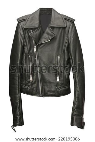 black jacket isolated on white - stock photo