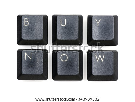 Black keyboard buttons concept; Buy Now.