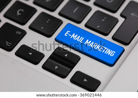 Black keyboard with E-MAIL MARKETING button - stock photo