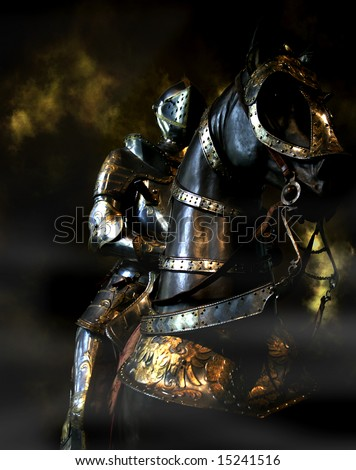 Black Knight, Musee de l'Armee, Paris, France - stock photo
