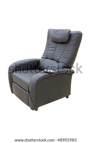 Black lazy armchair isolated included clipping path