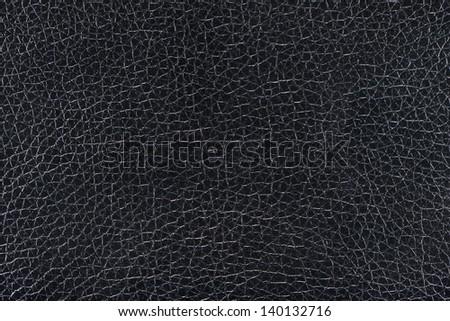 Black leather background  texture - stock photo
