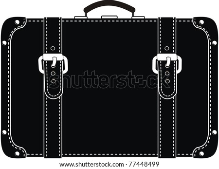 Vector Black Leather Suitcase Straps Contour Stock Vector 77180980 ...