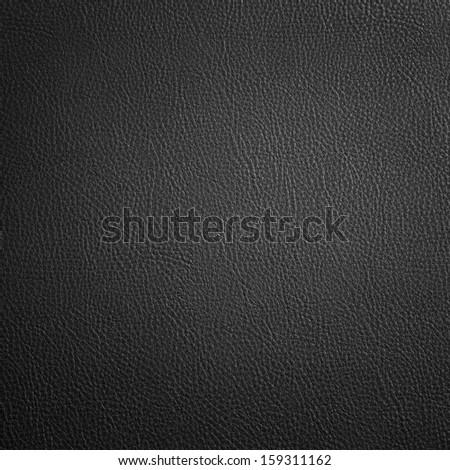 black leather texture background - stock photo