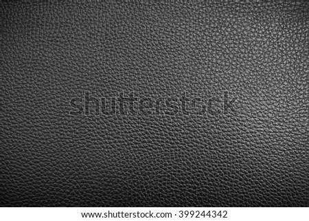 Black leather texture, Black leather bag, Black leather background in vignette for design with copy space for text or image. - stock photo