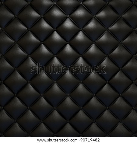 Black leather upholstery texture with great detail for background, check my port for a seamless version - stock photo