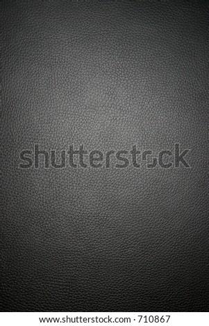 Black leather - wide macro - stock photo
