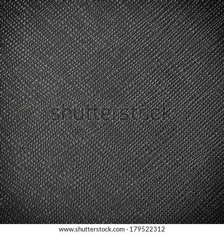 Black leatherette background - stock photo