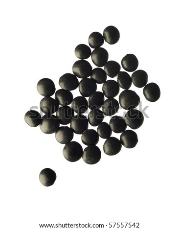 black lens - stock photo