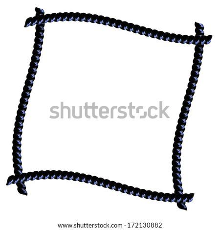 Black Licorice frame isolated on white - stock photo