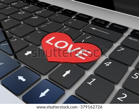 Black love keyboard