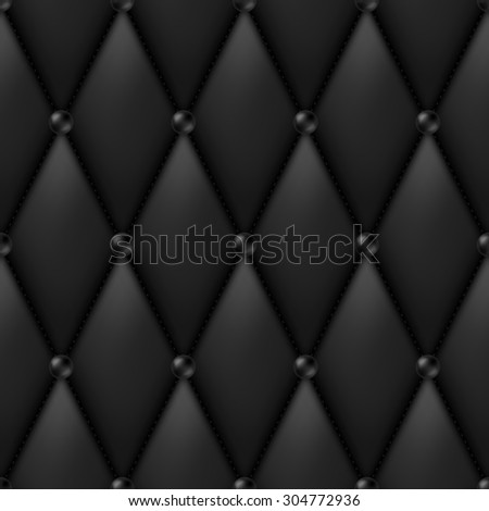 Black Luxury Leather Upholstery seamless pattern - stock photo