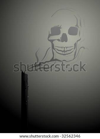 Black magic - raster - stock photo