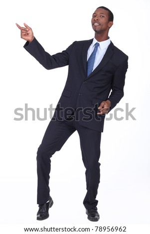 black man in suit - stock photo