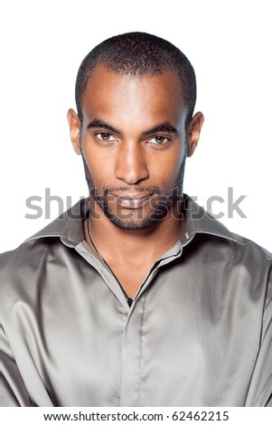 black man portrait - stock photo