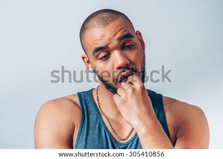 black man showing that the sick