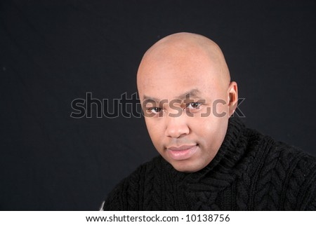 Black man wearing sweater