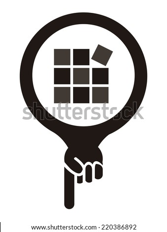 Black Map Pointer Icon With Tile, Flooring, Tile Care or Tile Maintenance Service Sign Isolated on White Background  - stock photo