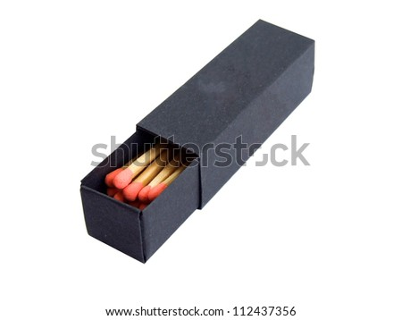 black matchbox - stock photo