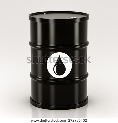 black metal barrels on a white background
