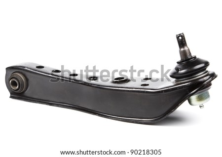 black metal car spare isolated on white