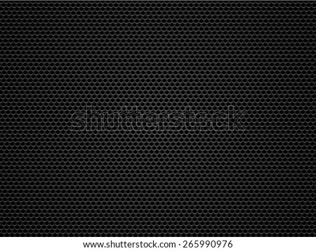 Black metal / carbon grid background or texture - stock photo