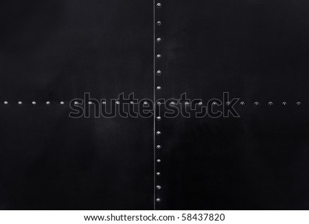 black metal plate background - stock photo