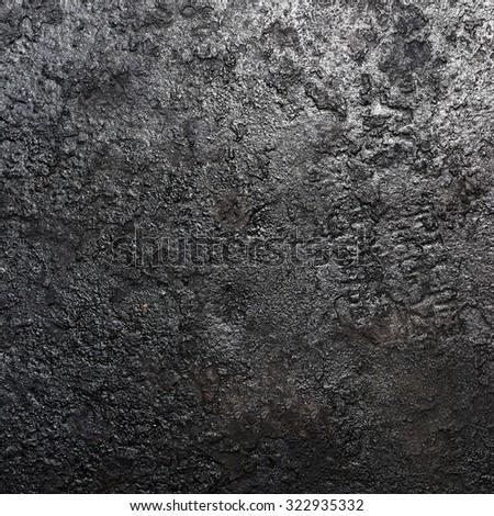Black metal texture - stock photo