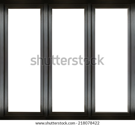 black metal window frame