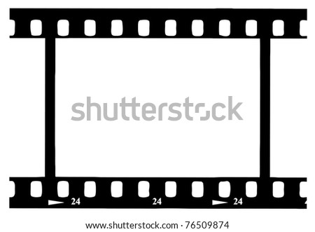 Black 35 mm Movie Film Strip - stock photo